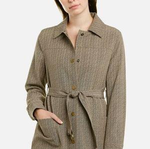 Jones New York Snap Jacket Herringbone Stretch L